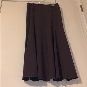 Rue 21 Long Brown Sz 12/13 Chevron Seam Skirt NWT